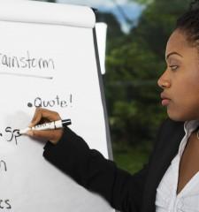 Female Instructor during workshop
