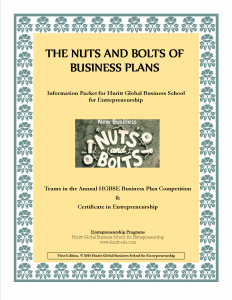 The Nuts & Bolts of Business Plans_cover